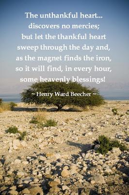 Gratitude-Henry Ward Beecher